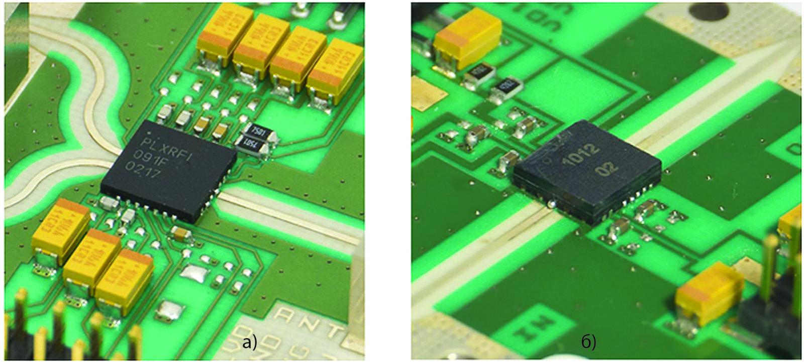 Формованный пластиковый QFN-корпус 5×5 мм, содержащий 28 ГГц FEM