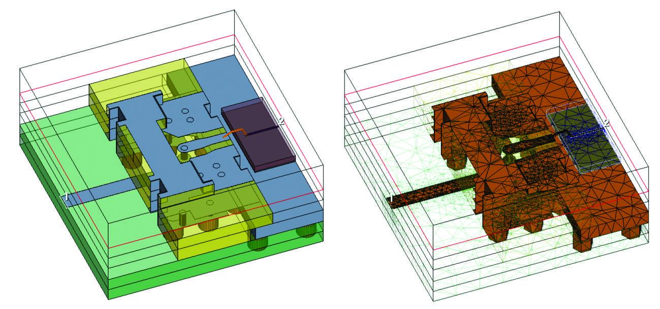 Моделирование переходной области в 3D-электромагнитном симуляторе по методу конечных элементов Analyst