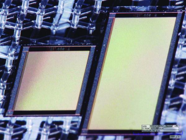 Фото транзисторных структур GaN-on-Si