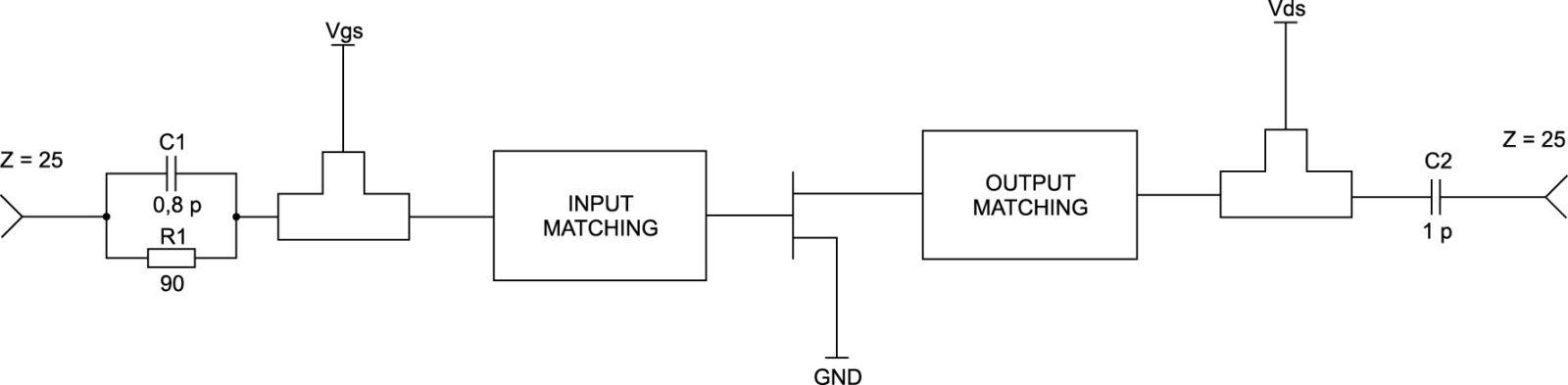 Схема согласования каскада усиления