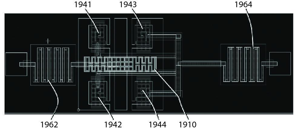 Пример внутренней структуры МЭМС-переключателя, выполненного с использованием метаматериала