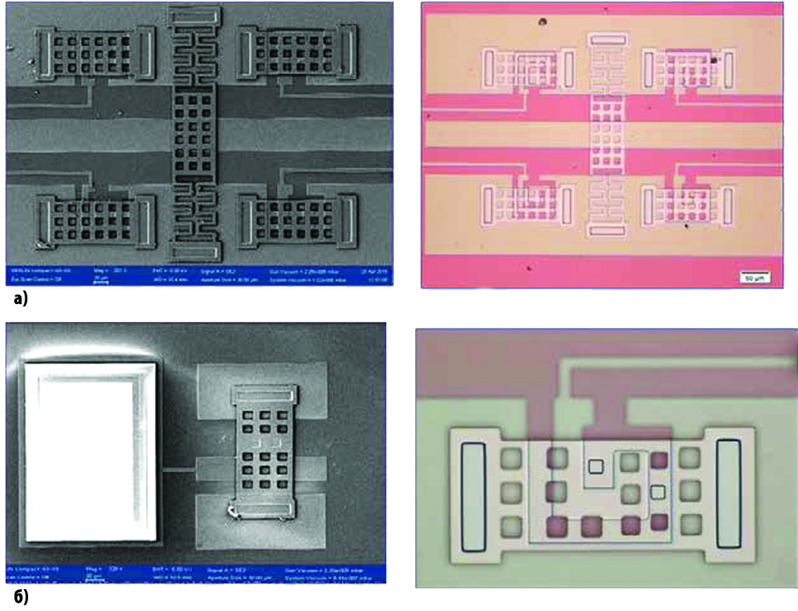 Изображение сканирующего электронного и оптического микроскопа