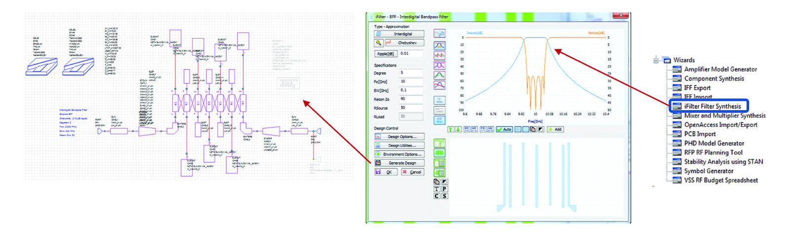 Синтез полосового фильтра при помощи утилиты iFilter