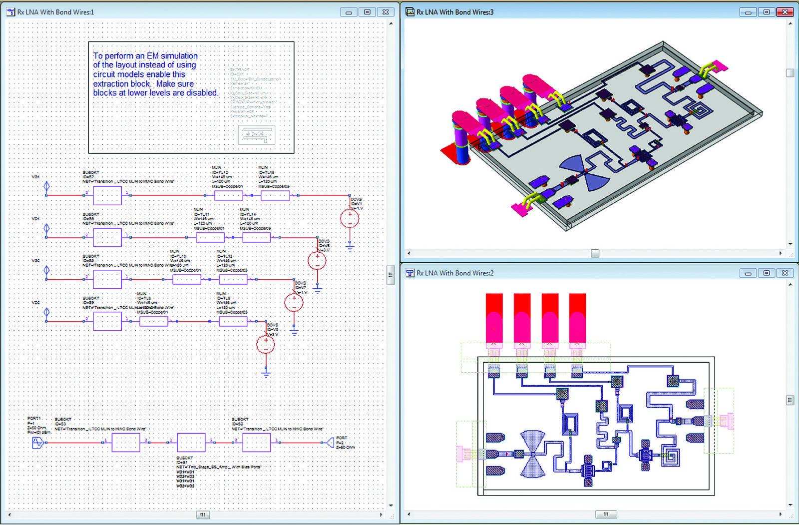 Схема, топология и 3D-вид платы МШУ