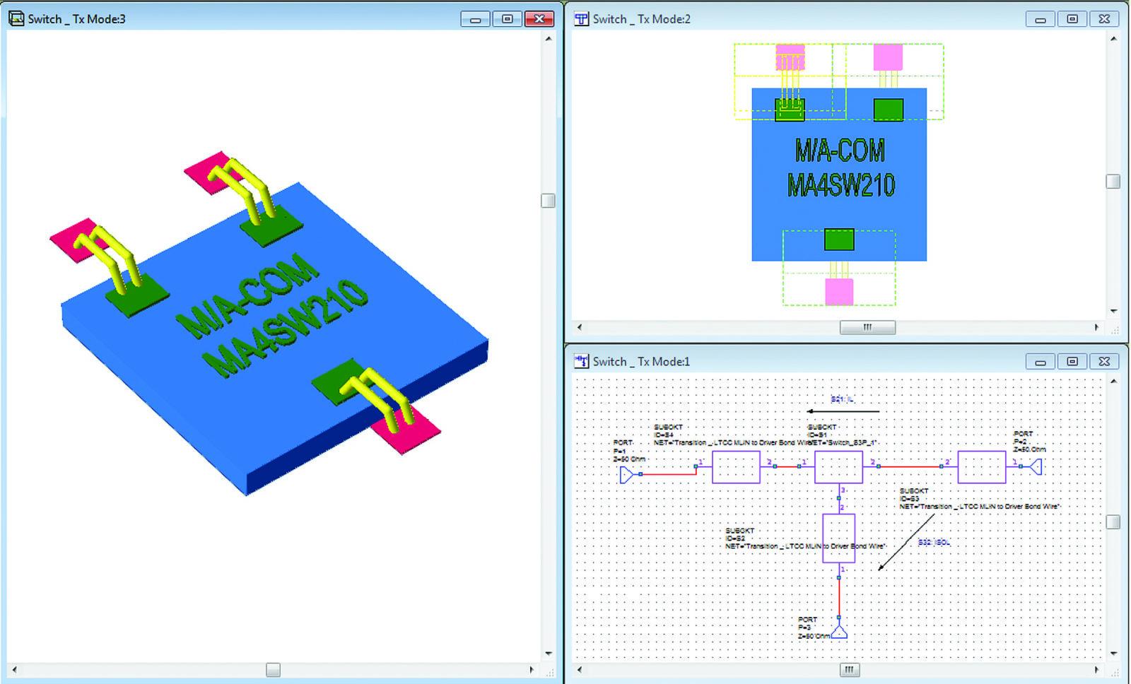 Схема и топология переключателя с проволочными выводами