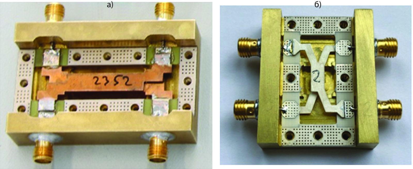 Фотографии макетов 3-дБ квадратурных мостов с лицевой связью
