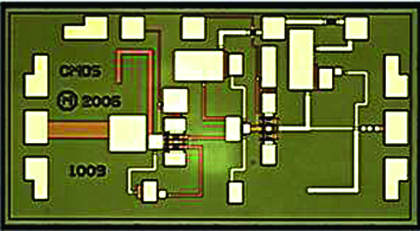 Некорпусированная СВЧ ИС активного удвоителя частоты диапазона 24–36 ГГц (K-, Ka-, Q-диапазоны). Модель CMD214 компании Custom MMIC