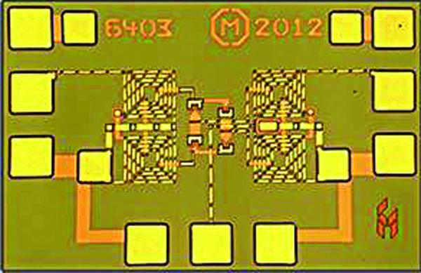 Некорпусированная GaAs СВЧ ИС широкополосного двойного балансного смесителя 16–26 ГГц CMD179 компании Custom MMIC