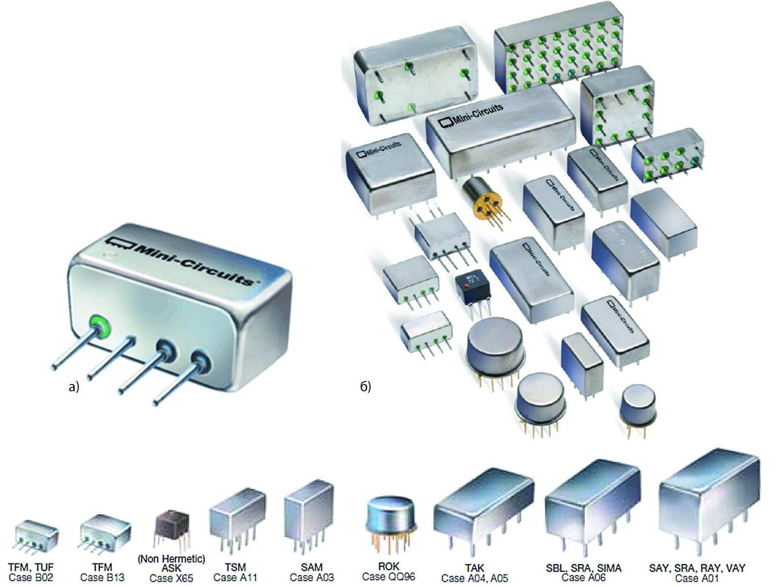 Компоненты во вставном (Plug In) исполнении, предлагаемые компанией Mini-Circuits