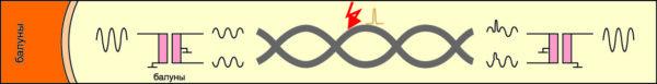 Передача сигнала с использованием балуна для обеспечения помехоустойчивости