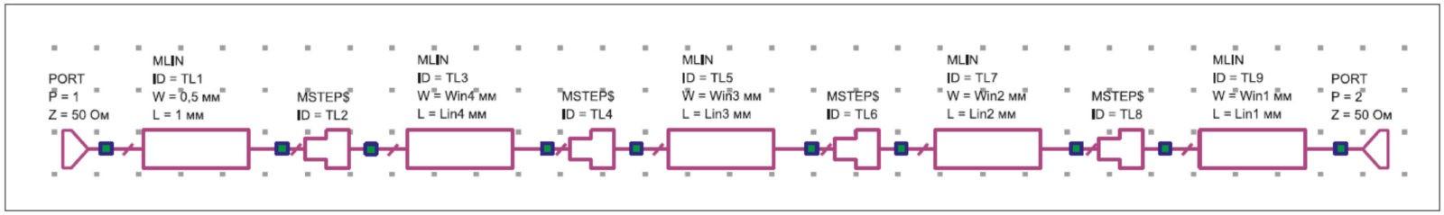 Схема входной согласующей цепи транзисторов