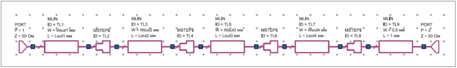 Схема выходной согласующей цепи транзисторов
