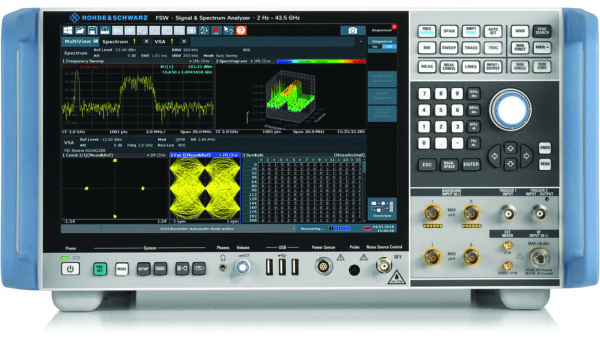 Анализатор спектра и сигналов FSW компании Rohde & Schwarz в классическом настольном выполнении