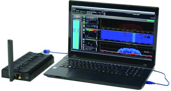 USB-анализатор спектра Spectran HF-80200 V5 X, с рабочим диапазоном 9 кГц —20 ГГц производства компании Aaronia
