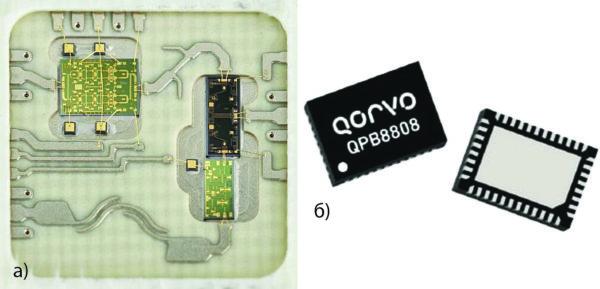 Выполненные в виде MCM входной РЧ-блок диапазона 26 ГГц компании Plextek RFI и усилитель компании Qorvo QPB8808