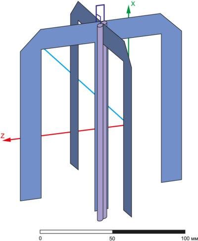 Конструкция печатной антенны круговой поляризации, питаемой коаксиальным фидером