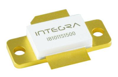 Импульсная выходная мощность кремниевого биполярного транзистора IB1011S1500 составляет 1400 Вт при усилении импульсного сигнала с длительностью импульса 10 мкс и коэффициентом заполнения 1%. Рабочая частота: 1030 или 1090 МГц