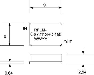 Внешний вид ограничительного модуля RFLM-872113HC-150