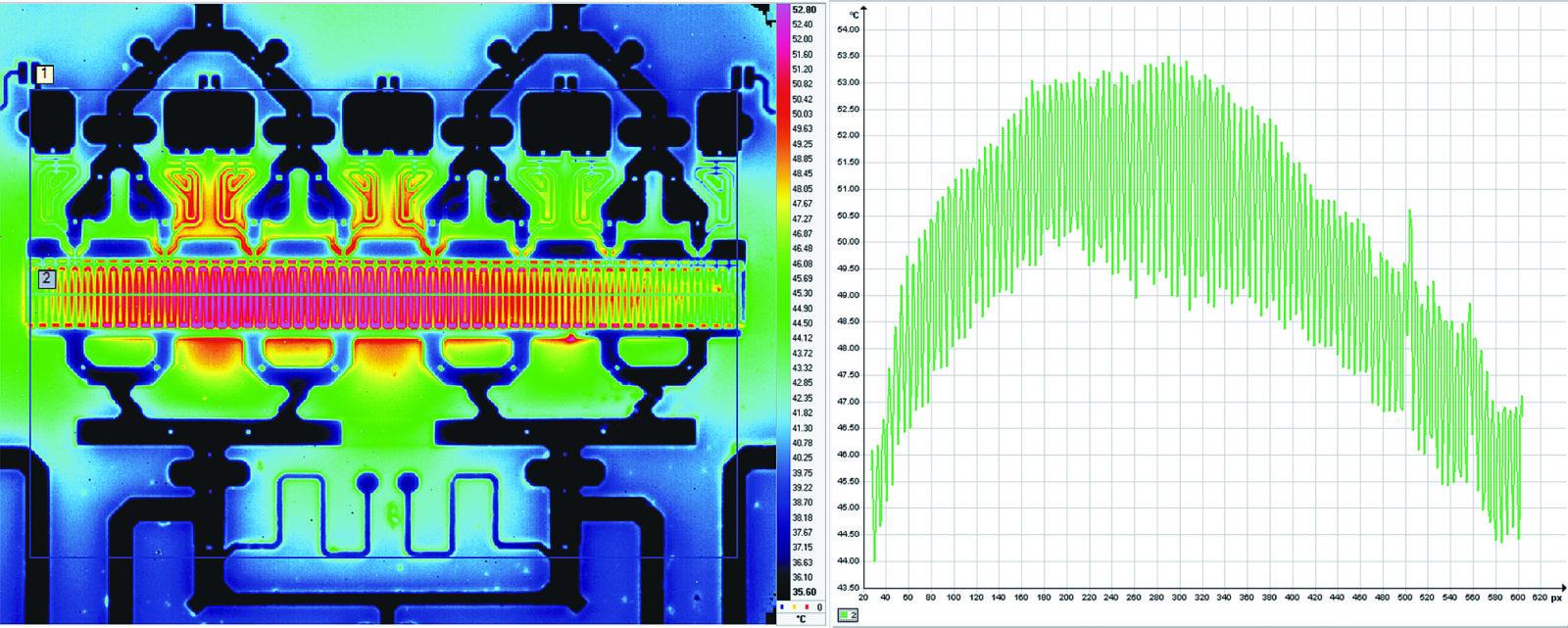 Изображение области транзистора с ИК-камеры SС5700