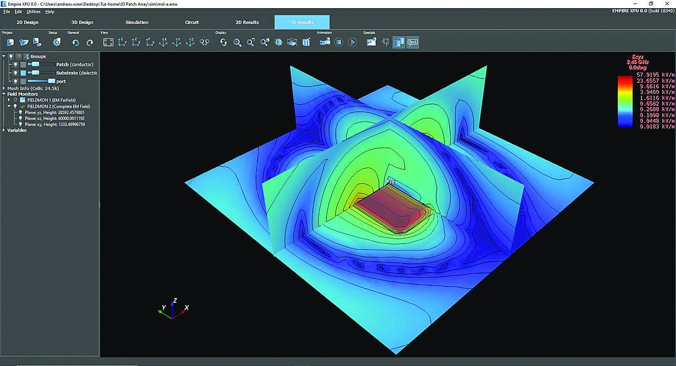 Просмотр картины ближнего поля в 3D