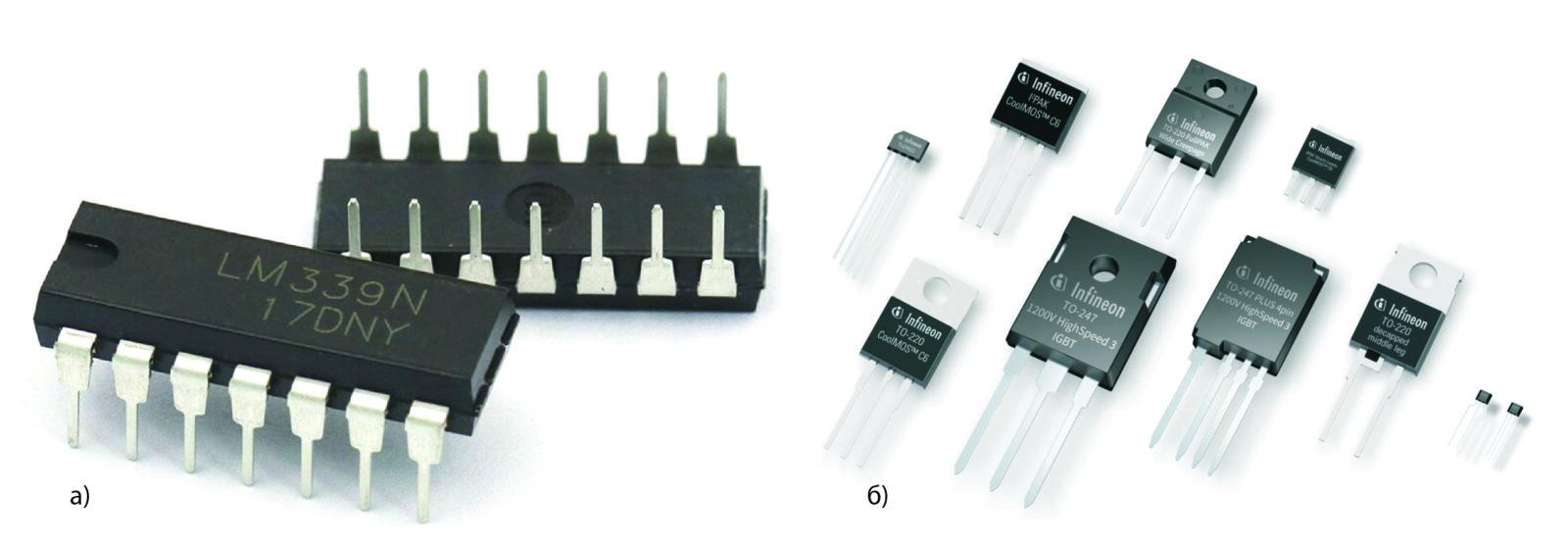 Классический корпус DIP ИС для монтажа в сквозные отверстия печатных плат и THT-компоненты компании Infineon Technologies