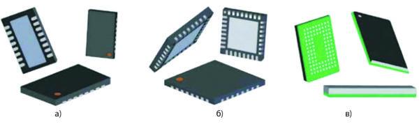 Типы корпусов компонентов с контактными площадками на нижней стороне корпуса