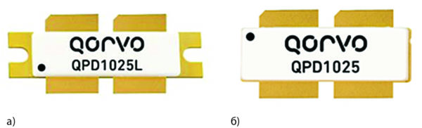 Транзистор QPD1025 выполнен в корпусе типа NI-1230