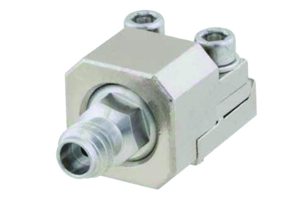 Концевой 1-мм разъем Pasternack, модель 45403, работает на частотах 110 ГГц с КСВН 1,28:1 или меньше, вносимые потери 0,1 дБ