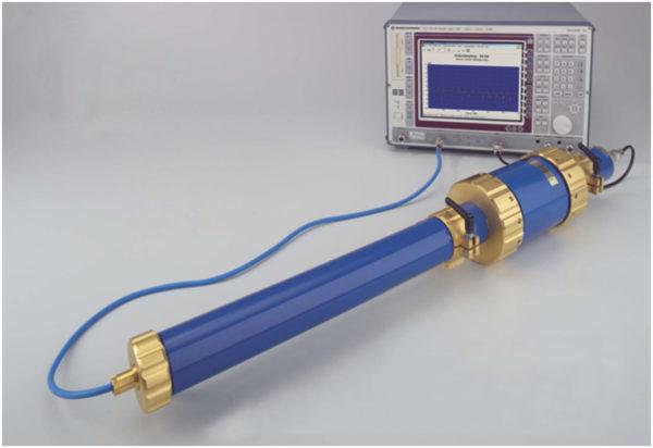 Установка для измерения эффективности экранирования с помощью триаксиальной линии