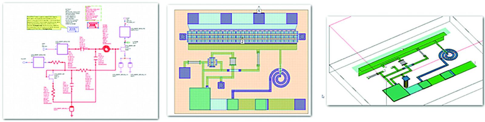 Извлечение через EM Extraction для моделирования в планарный электромагнитный симулятор AXIEM спирального резонатора MMIC