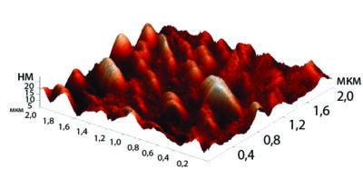 Морфология поверхности необработанной полиимидной пленки