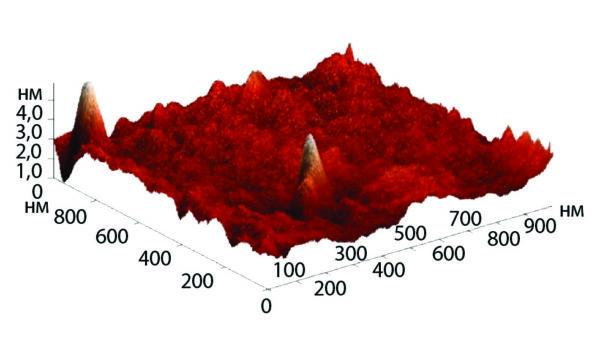 Морфология поверхности обработанной полиимидной пленки