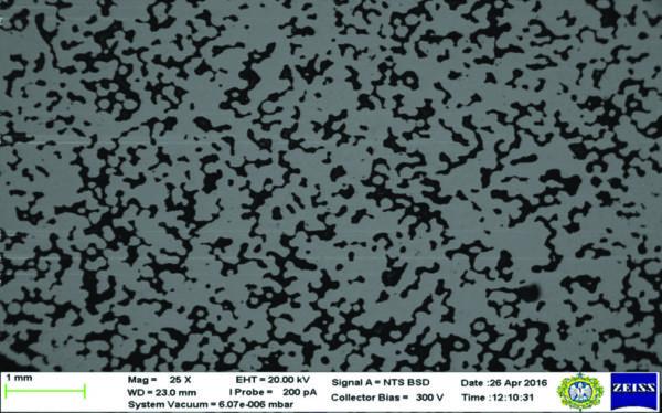 Необработанные в плазме гранулы, подвергнутые термической обработке