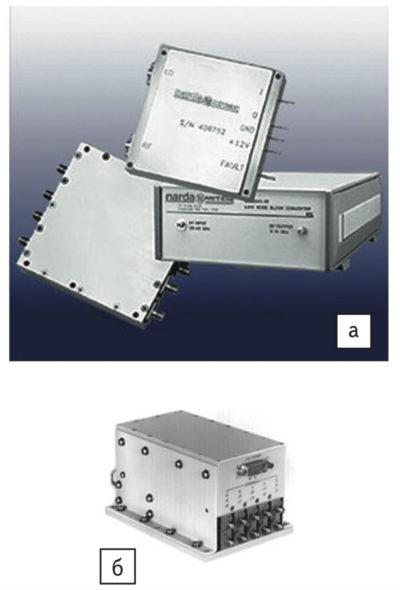Конструктивное исполнение многоканальных преобразователей компании L-3 Narda-MITEQ; б) пятиканальная модель серии DSS0818