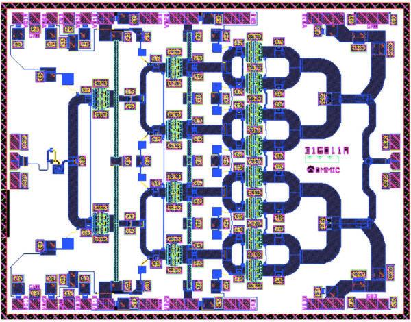 Топология 40-ГГц усилителя мощности на нитриде галлия